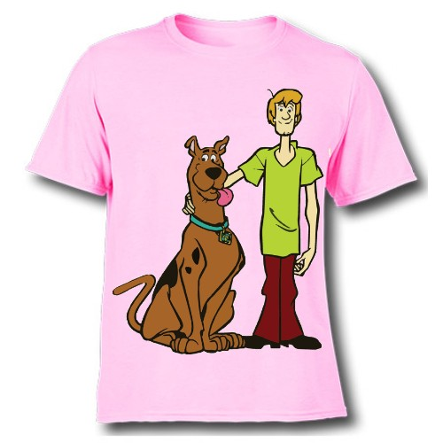 Pink Scooby with Shaggy Kid's Printed T Shirt
