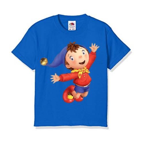 Blue Flying Cartoon Kid's Printed T Shirt