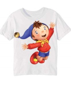 White Flying Cartoon Kid's Printed T Shirt