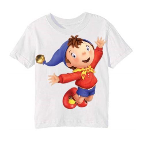 White Flying Cartoon Kid's Printed T Shirt