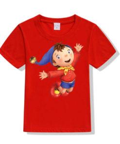 Red Flying Cartoon Kid's Printed T Shirt