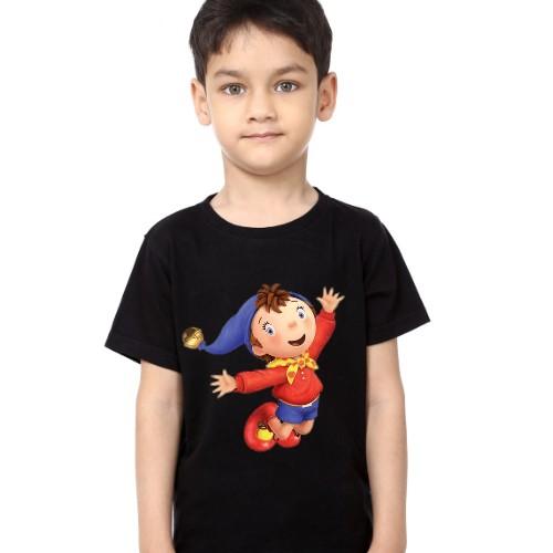 Black Boy Flying Cartoon Kid's Printed T Shirt