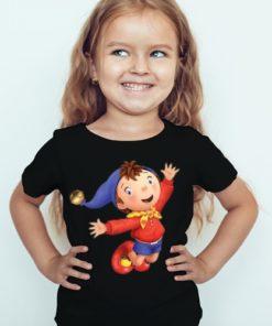 Black Girl Flying Cartoon Kid's Printed T Shirt