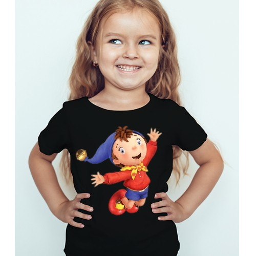 Black Girl Flying Cartoon Kid's Printed T Shirt