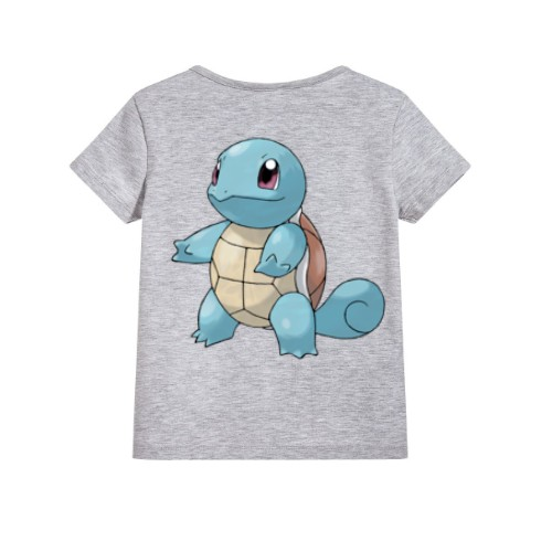 Grey standing tortoise Kid's Printed T Shirt