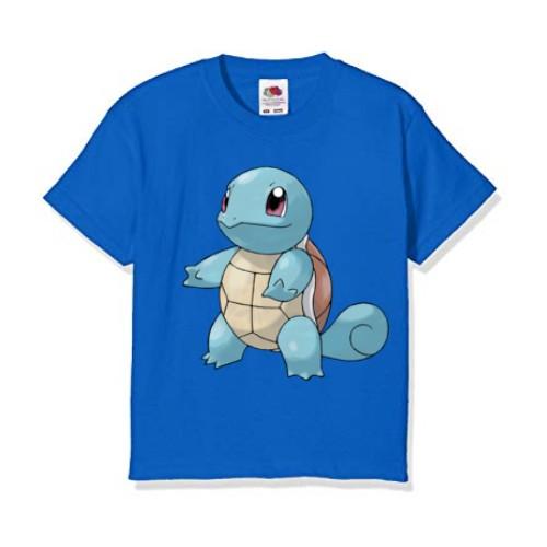 Blue standing tortoise Kid's Printed T Shirt