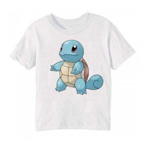 White standing tortoise Kid's Printed T Shirt