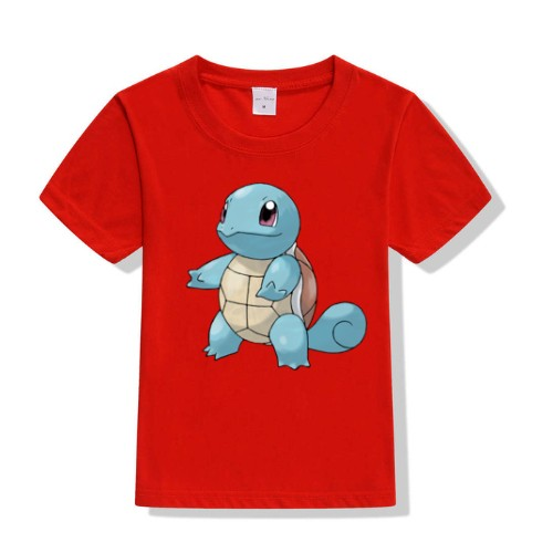 Red boy standing tortoise Kid's Printed T Shirt