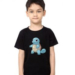 Black boy standing tortoise Kid's Printed T Shirt