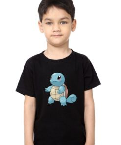 Black boy standing tortoise Kid's Printed T Shirt