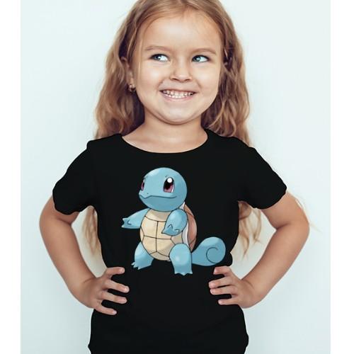 Black Girl standing tortoise Kid's Printed T Shirt