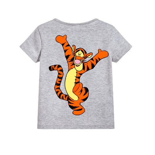 Grey Dancing Tiger Kid's Printed T Shirt