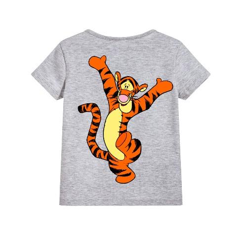 Grey Dancing Tiger Kid's Printed T Shirt