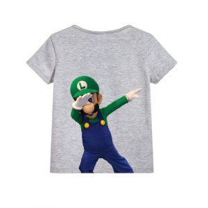 Grey Dancing Mario Kid's Printed T Shirt