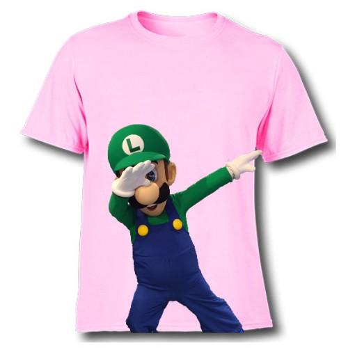 Pink Dancing Mario Kid's Printed T Shirt