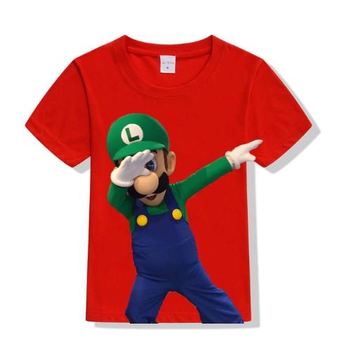 Red Dancing Mario Kid's Printed T Shirt