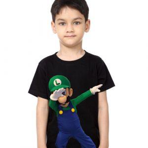 Black Boy Dancing Mario Kid's Printed T Shirt