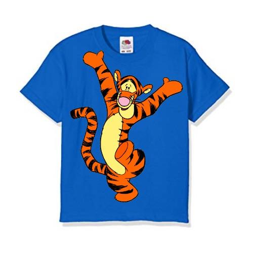 Blue Dancing Tiger Kid's Printed T Shirt