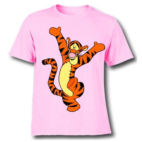 Pink Dancing Tiger Kid's Printed T Shirt
