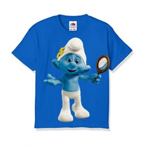 Blue Cartoon Character Bluish Kid's Printed T Shirt