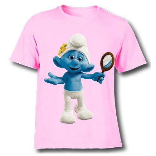 Pink Cartoon Character Bluish Kid's Printed T Shirt