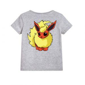 Grey Rabbit in Yellow Kid's Printed T Shirt