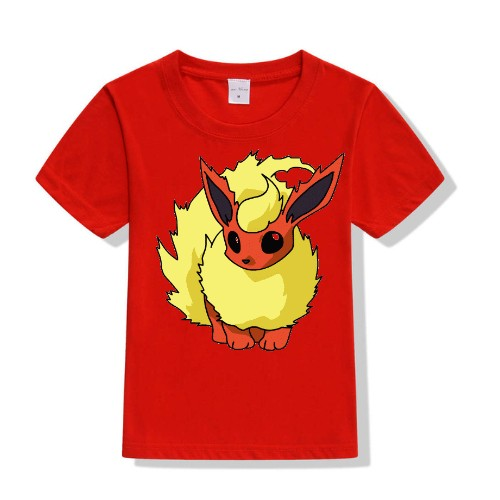 Red Rabbit in Yellow Kid's Printed T Shirt
