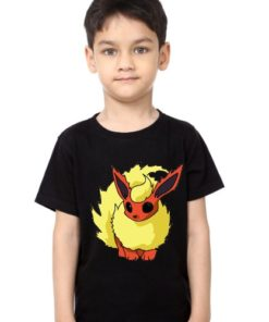 Black Boy Rabbit in Yellow Kid's Printed T Shirt