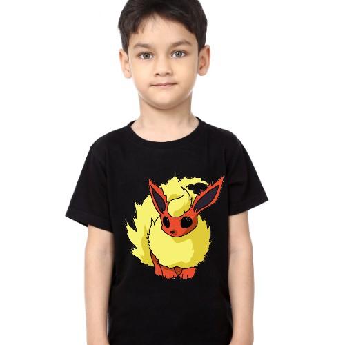 Black Boy Rabbit in Yellow Kid's Printed T Shirt