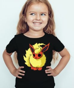 Black Girl Rabbit in Yellow Kid's Printed T Shirt