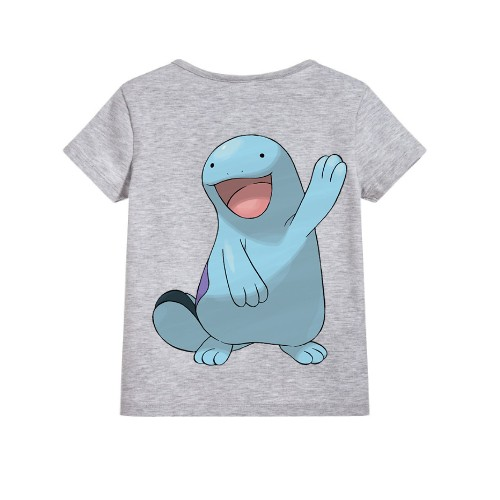 Grey Dolphin in Blue Kid's Printed T Shirt