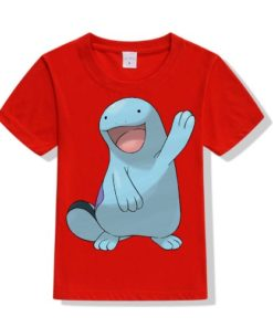 Red Dolphin in Blue Kid's Printed T Shirt