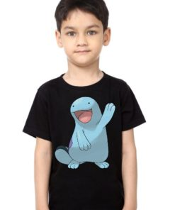 Black Boy Dolphin in Blue Kid's Printed T Shirt