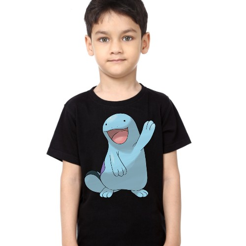 Black Boy Dolphin in Blue Kid's Printed T Shirt