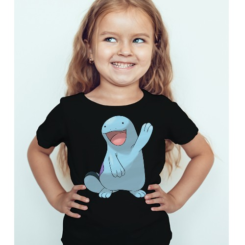 Black Girl Dolphin in Blue Kid's Printed T Shirt