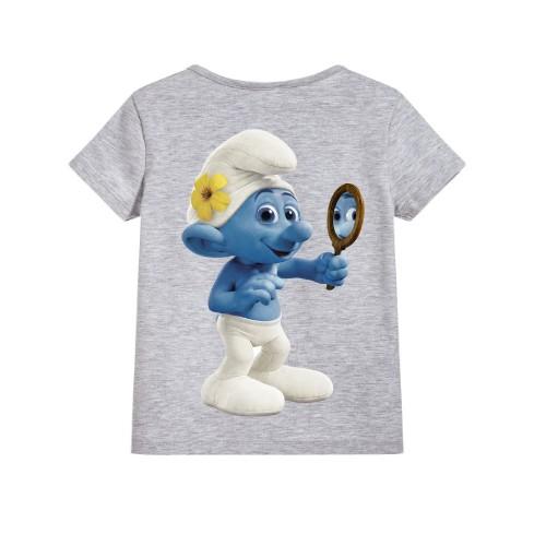 Grey Mirror Ghost Kid's Printed T Shirt