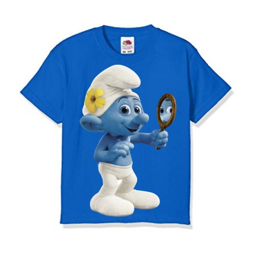 Blue Mirror Ghost Kid's Printed T Shirt