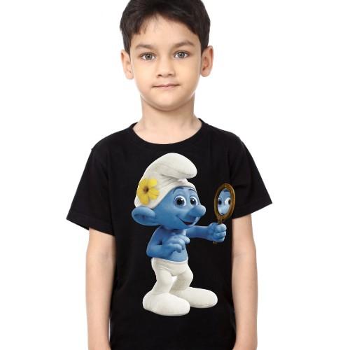 Black Boy Mirror Ghost Kid's Printed T Shirt