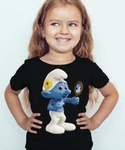 Black Girl Mirror Ghost Kid's Printed T Shirt