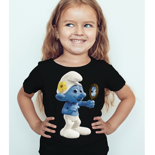 Black Girl Mirror Ghost Kid's Printed T Shirt