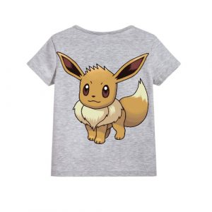 Grey Innocent Squirrel Kid's Printed T Shirt