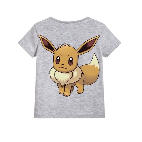 Grey Innocent Squirrel Kid's Printed T Shirt