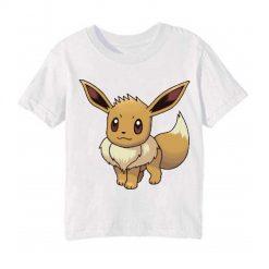 White Innocent Squirrel Kid's Printed T Shirt