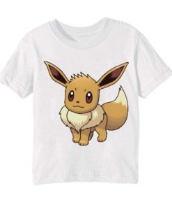 White Innocent Squirrel Kid's Printed T Shirt