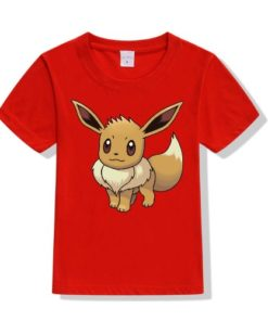 Red Innocent Squirrel Kid's Printed T Shirt