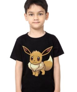 Black Boy Innocent Squirrel Kid's Printed T Shirt
