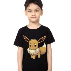 Black Boy Innocent Squirrel Kid's Printed T Shirt
