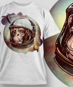 Printe5 Cosmic Chimp Tshirt