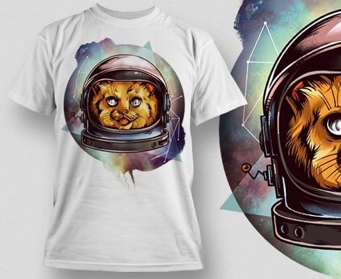 Printe5 Cosmic Kitty Tshirt