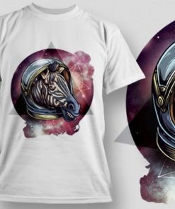 Printe5 Cosmic Zebra T Shirt